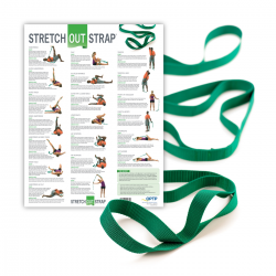 Stretch Out Strap® with Stretching Exercise Poster